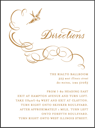 Ornate Flourish Letterpress Direction Design Medium