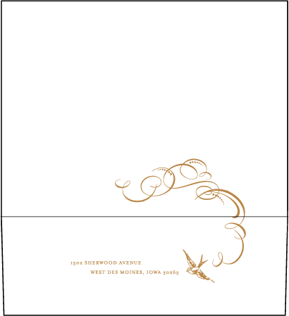 Ornate Flourish Letterpress Envelope Design Medium