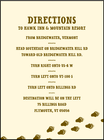 Overlook Letterpress Direction Design Medium