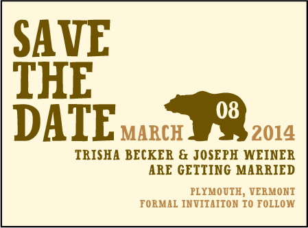 Overlook Letterpress Save The Date Design Medium