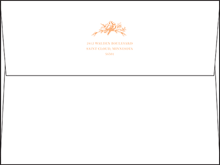 Palace Garden Letterpress Envelope Design Medium