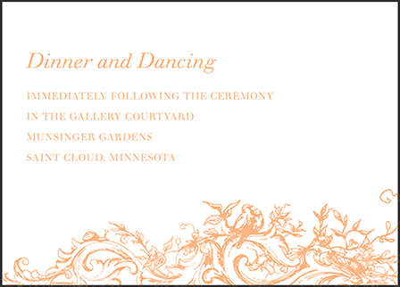 Palace Garden Letterpress Reception Design Medium