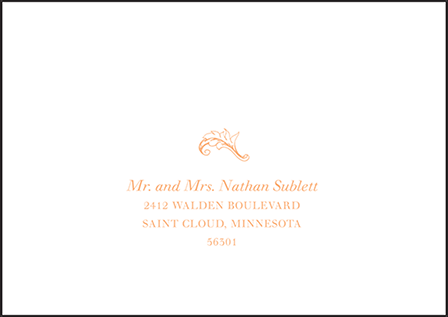 Palace Garden Letterpress Reply Envelope Design Medium