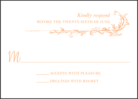 Palace Garden Letterpress Reply Design Medium