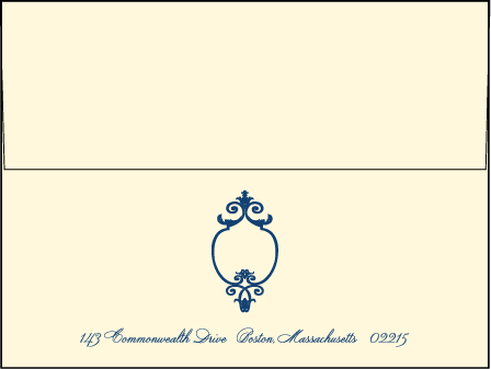 Palais Letterpress Envelope Design Medium