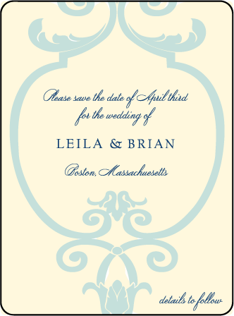 Palais Letterpress Save The Date Design Medium