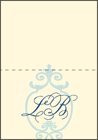 Palais Letterpress Thank You Card Fold Design Medium