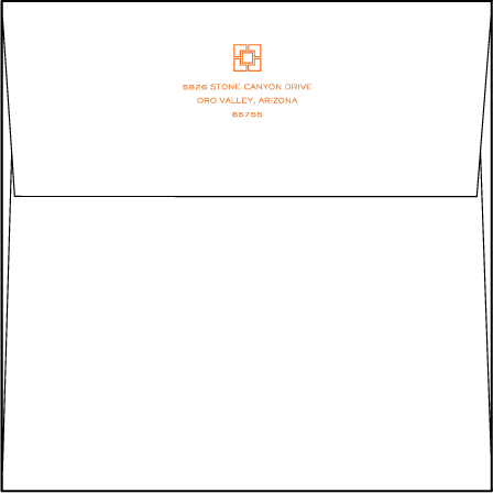 Palmas Letterpress Envelope Design Medium