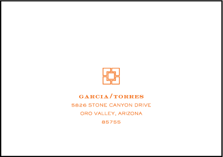 Palmas Letterpress Reply Envelope Design Medium