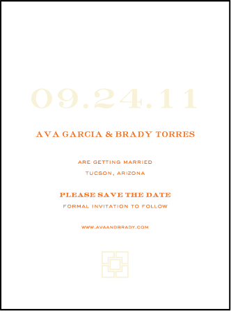 Palmas Letterpress Save The Date Design Medium