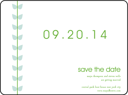 Papillon Letterpress Save The Date Design Medium