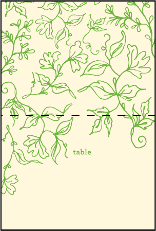 Pastoral Letterpress Placecard Fold Design Medium