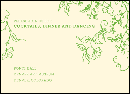 Pastoral Letterpress Reception Design Medium