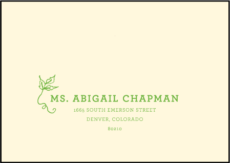 Pastoral Letterpress Reply Envelope Design Medium