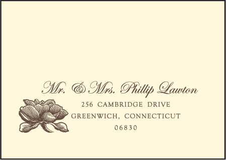 Pavilion Letterpress Reply Envelope Design Medium