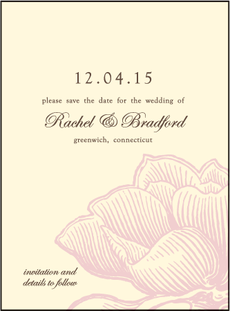 Pavilion Letterpress Save The Date Design Medium