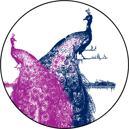 Peacock Full Body Letterpress Coaster Design Medium