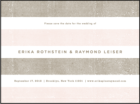 Polka Stripe Letterpress Save The Date Design Medium