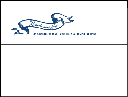 Popular Country Letterpress Envelope Design Medium
