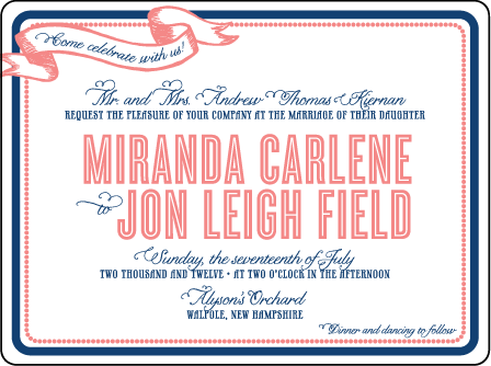 Popular Country Letterpress Invitation Design Medium