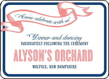 Popular Country Letterpress Reception Design Medium