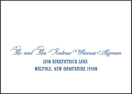 Popular Country Letterpress Reply Envelope Design Medium