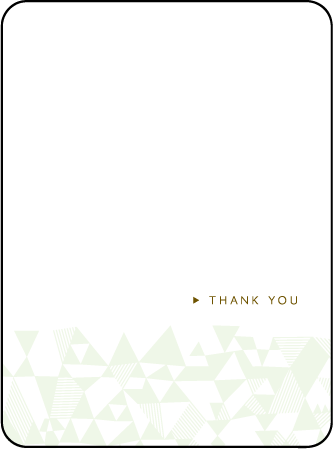 Popular Quilt Letterpress Thank You Card Flat Design Medium