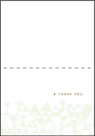 Popular Quilt Letterpress Thank You Card Fold Design Medium