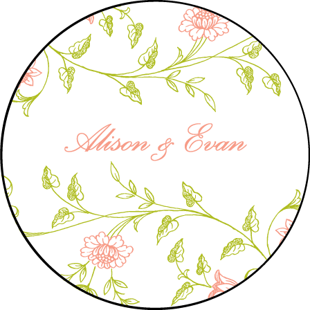 Printemps Letterpress Coaster Design Medium