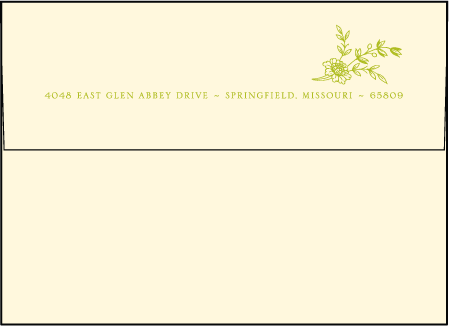 Printemps Letterpress Envelope Design Medium