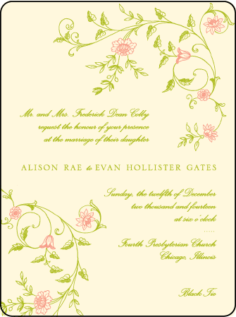 Printemps Letterpress Invitation Design Medium