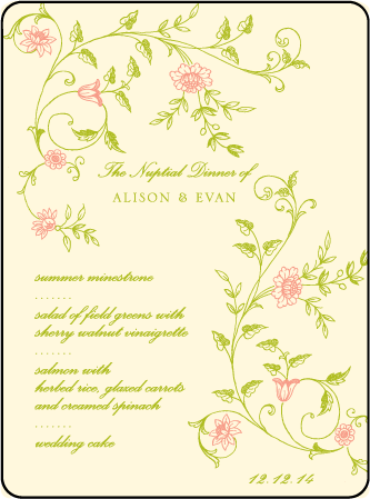 Printemps Letterpress Menu Design Medium