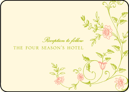 Printemps Letterpress Reception Design Medium