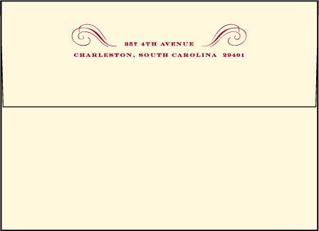 Promenade Letterpress Envelope Design Medium