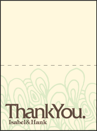 Provenance Letterpress Thank You Card Fold Design Medium