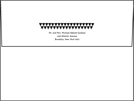 Pyramid Letterpress Envelope Design Medium