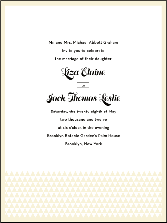 Pyramid Letterpress Invitation Design Medium