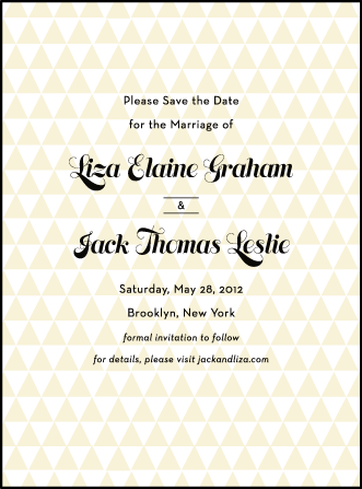 Pyramid Letterpress Save The Date Design Medium