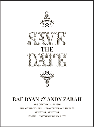 Rae Letterpress Save The Date Design Medium