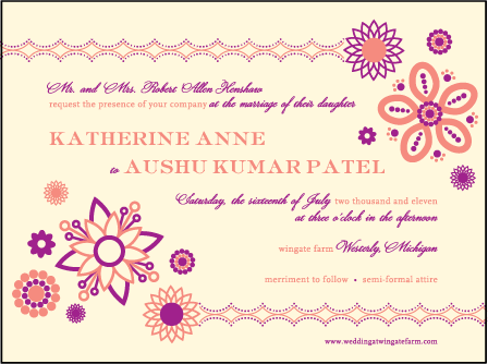 Rangoli Letterpress Invitation Design Medium