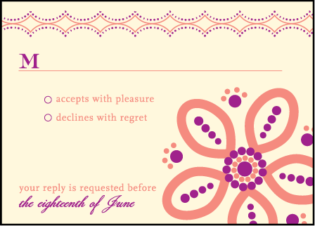 Rangoli Letterpress Reply Design Medium