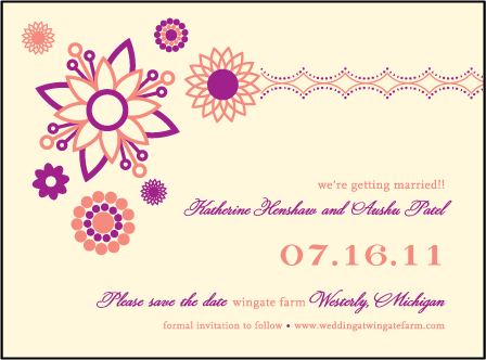 Rangoli Letterpress Save The Date Design Medium