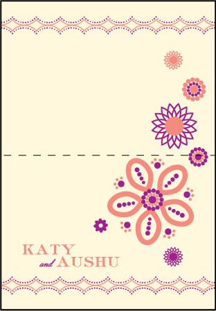 Rangoli Letterpress Thank You Card Fold Design Medium