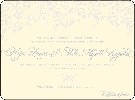 Ravenna Letterpress Invitation Design Medium