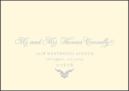 Ravenna Letterpress Reply Envelope Design Medium