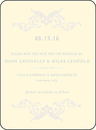 Ravenna Letterpress Save The Date Design Medium