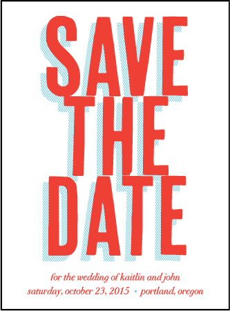 Refined Newport Letterpress Save The Date Design Medium