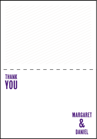 Refined Space Letterpress Thank You Card Fold Design Medium