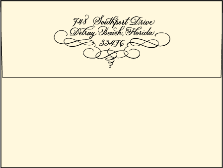 Revival Calligraphy Letterpress Envelope Design Medium