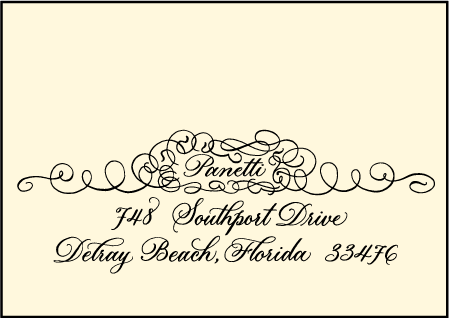 Revival Calligraphy Letterpress Reply Envelope Design Medium